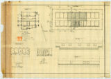 Plan,  longitudinal section,...