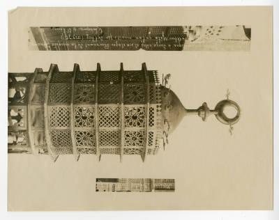 "<bdi class=""metadata-value"">Fourteenth century bronze octagonal chandelier</bdi>"