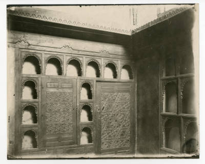 "<bdi class=""metadata-value"">Arabesque corner shelves in an unidentified house</bdi>"