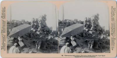 "<bdi class=""metadata-value"">""How are the mighty fallen,"" The broken Obelist of Karnak, Upper Egypt.</bdi>"