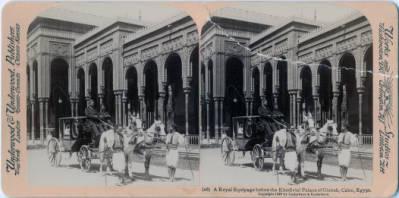 "<bdi class=""metadata-value"">A Royal Equipage before the Khedivial Palace of Gizireh, Cairo, Egypt.</bdi>"
